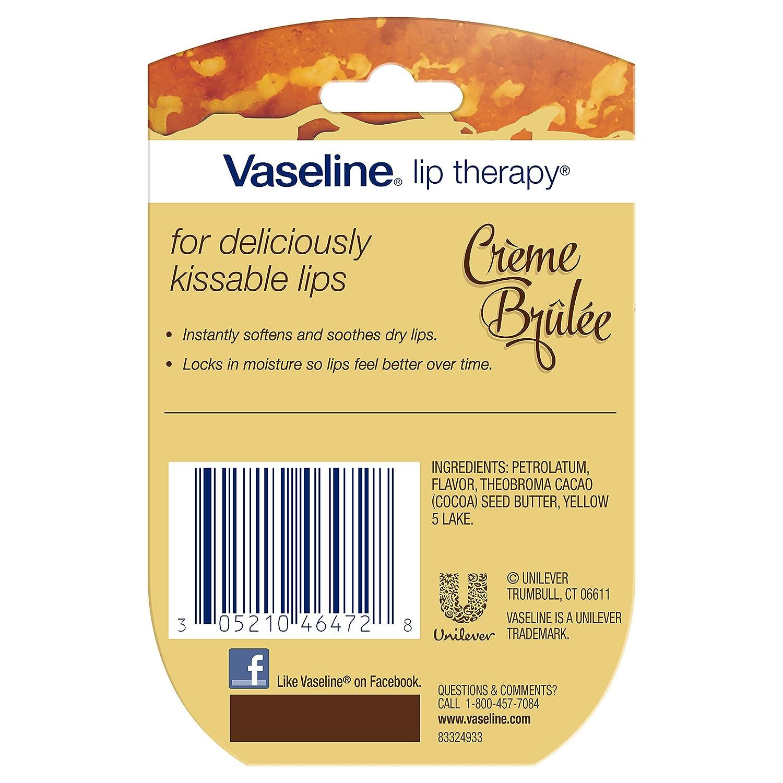 Vaseline Lip Therapy Lip Balm Mini, Creme Brulee, 0 25 oz: Amazon