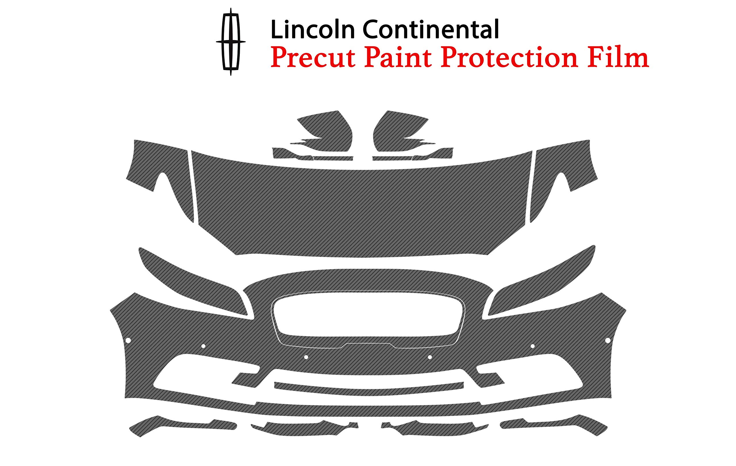 The Online Liquidator Clear Bra Protective Film Kit fits Lincoln Continental 2017-2019 - Car Paint Shield Vinyl Wrap