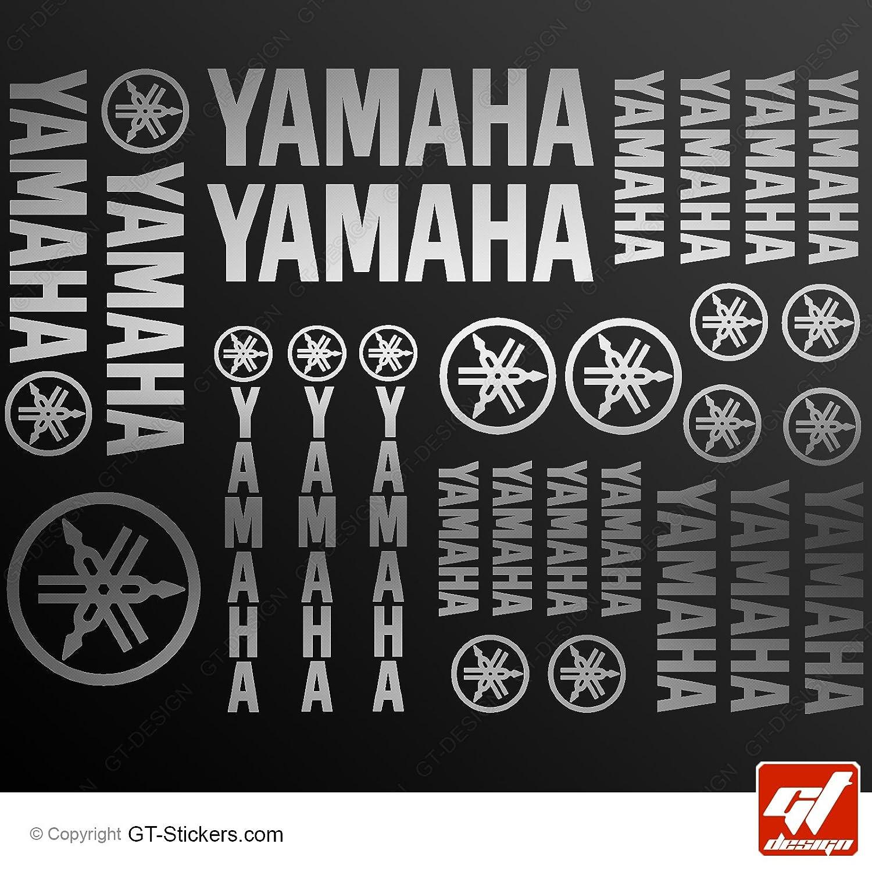 Aufkleber Yamaha –  Silber –  Brett XXL von 27 Sticker, selbstklebend, Aufkleber, gt-design