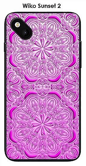 Onozo Carcasa Wiko Sunset 2 Design Mandala 2 rosetas Rosa ...