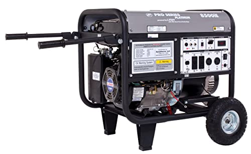 Lifan Platinum Series LF8500iEPL 8500 Watt Comercial 15 HP 420cc OHV Gas Powered Portable Generator with Electric Start and Wheel Kit with Never-Flat Foam Filled Tires