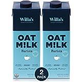 Pack of 2 (32 fl oz each) Willa's Oat Milk, Organic, Creamy, Plant Based & Shelf Stable Barista Beverage