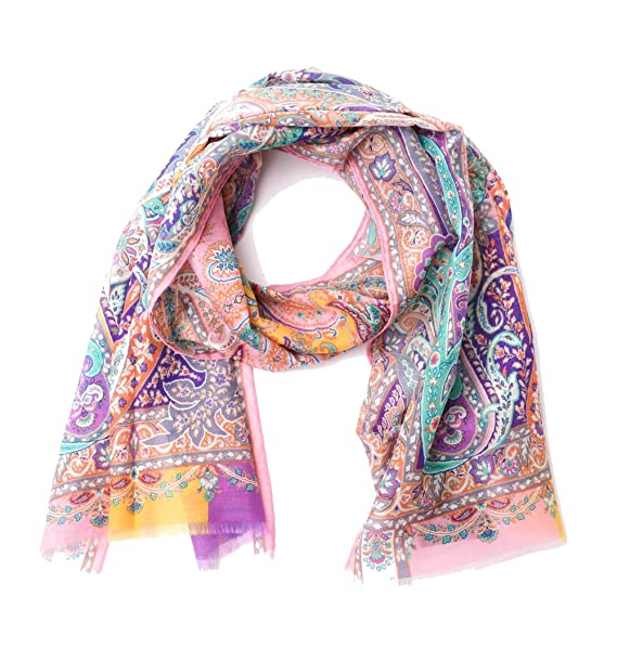 low priced 8b4a4 b3f11 Etro Foulard Donna 106605621650 Cotone Rosa: Amazon.it ...