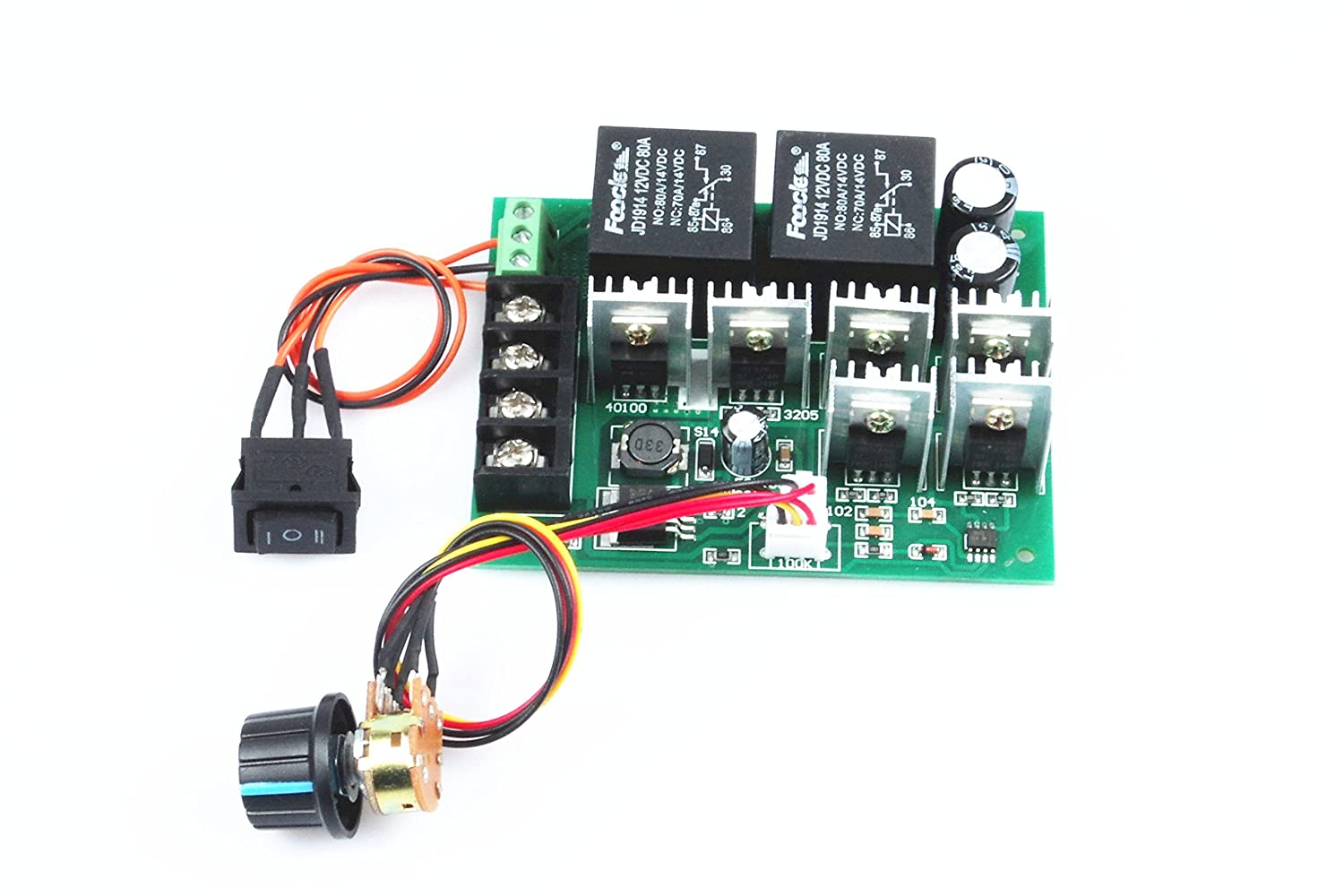 Amazon.com: KNACRO pwm speed controller PWM electronic governor 40A ...