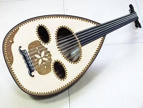 Árabe instrumento de cuerda mahogani Oud: Amazon.es: Instrumentos ...