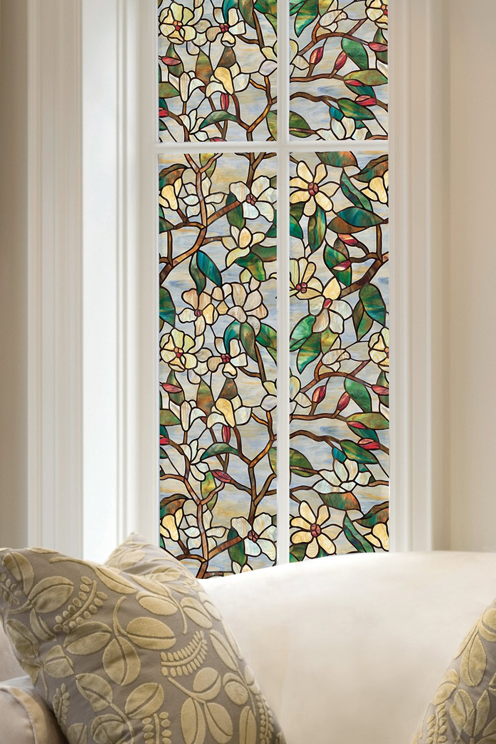 ARTSCAPE Summer Magnolia Window Film 24'' x 36''
