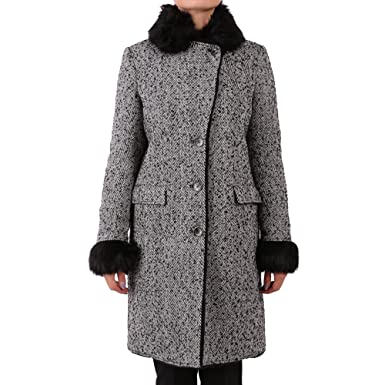 c984554e9f4 Image Unavailable. Image not available for. Colour: PATRIZIA PEPE Women's  2L0751a2yhf507 Grey Wool Coat