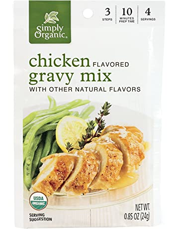 Simply Organic Chicken Flavored Gravy Mix, Certified Organic, 0.85-Ounce Packets (Pack