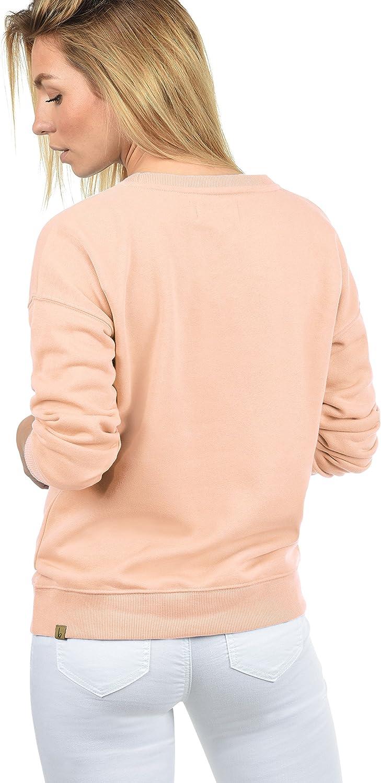 BlendShe Melli Pull en Sweat Sweat-Shirt pour Femme avec Encolure Rond