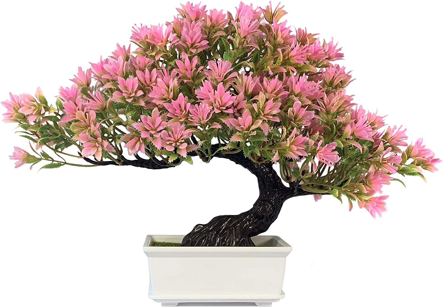 yoerm Artificial Bonsai Juniper Tree for Home Office Indoor Showcase Decor