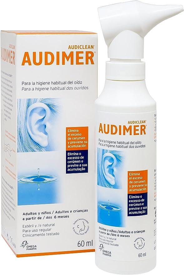 Audimer Spray Higiene Habitual del Oído Elimina Exceso de Cera y ...