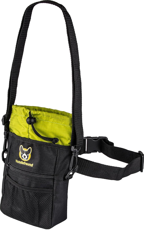 Pochette à friandises pour chien | Sac à friandises 4 en 1 avec ceinture, clip de ceinture, boucles de ceinture et bandoulière | 4 Compartiments Hundefreund