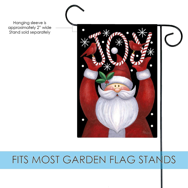 Amazon.com : Toland Home Garden Santa Joy 12.5 x 18 Inch Decorative ...