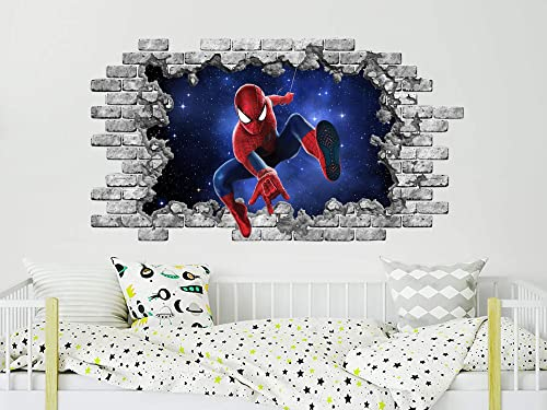 Wall Stickers Superhero For Kids Room Decorative Decal Baby Bedroom Decor