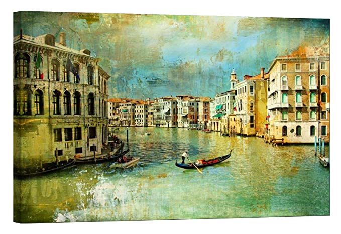 Glow in the Dark Like Oil Painting Old Venice - Venice wall art