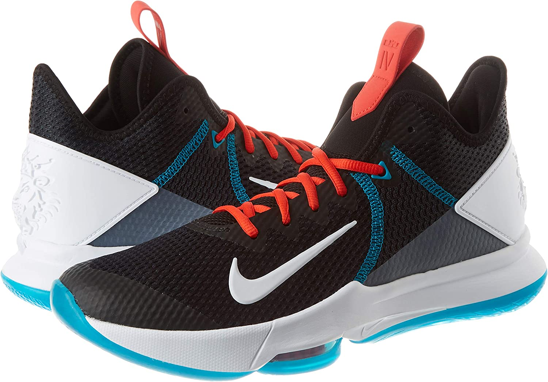 Negro//Blanco//Rojo//Azul//Gris Ahumado//Rojo 42.5 EU Zapatilla de Baloncesto para Hombre Nike Lebron Witness IV
