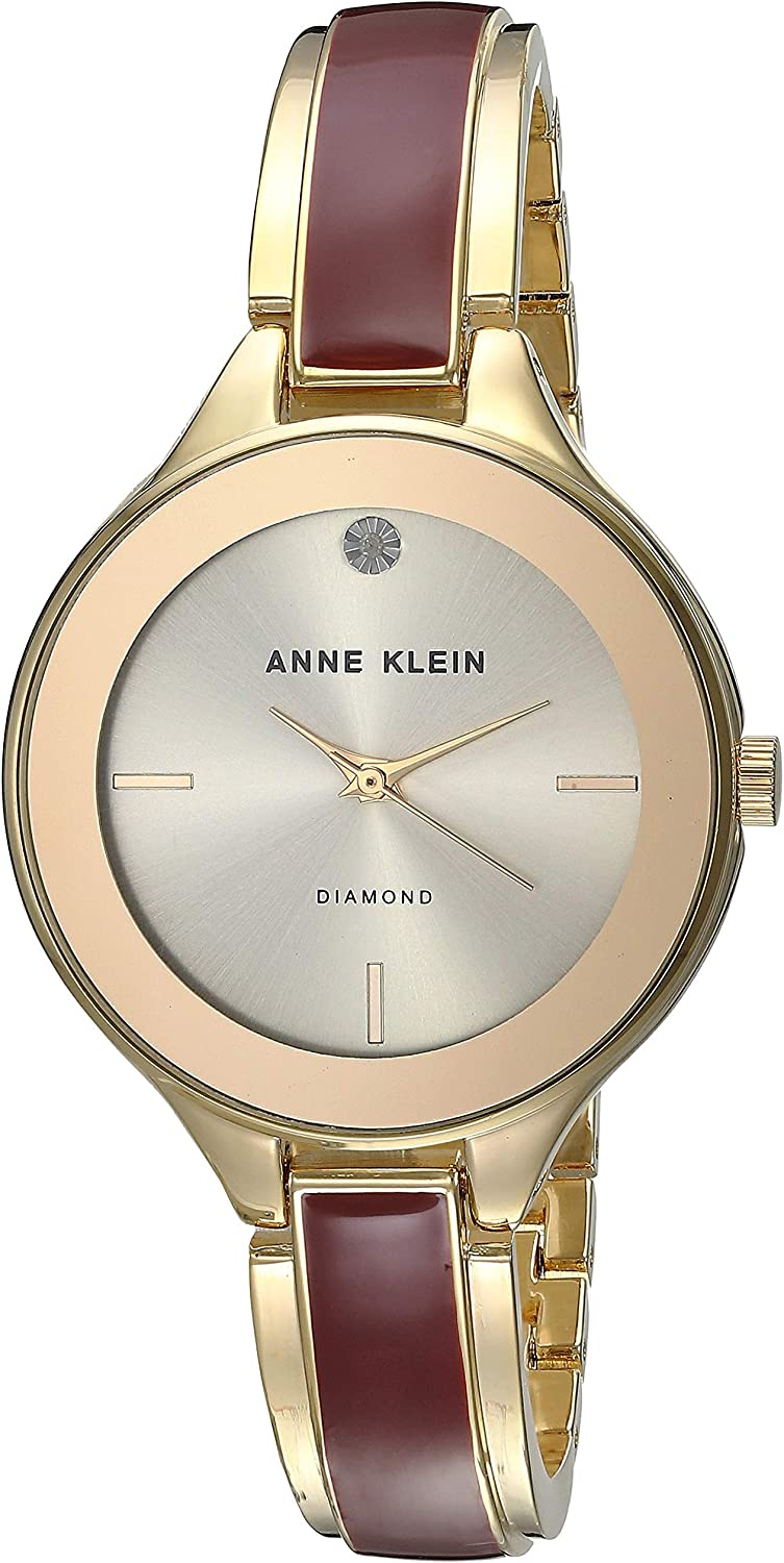 Anne Klein Classic Silver Dial Stainless Steel Ladies Watch AK2702BYGB