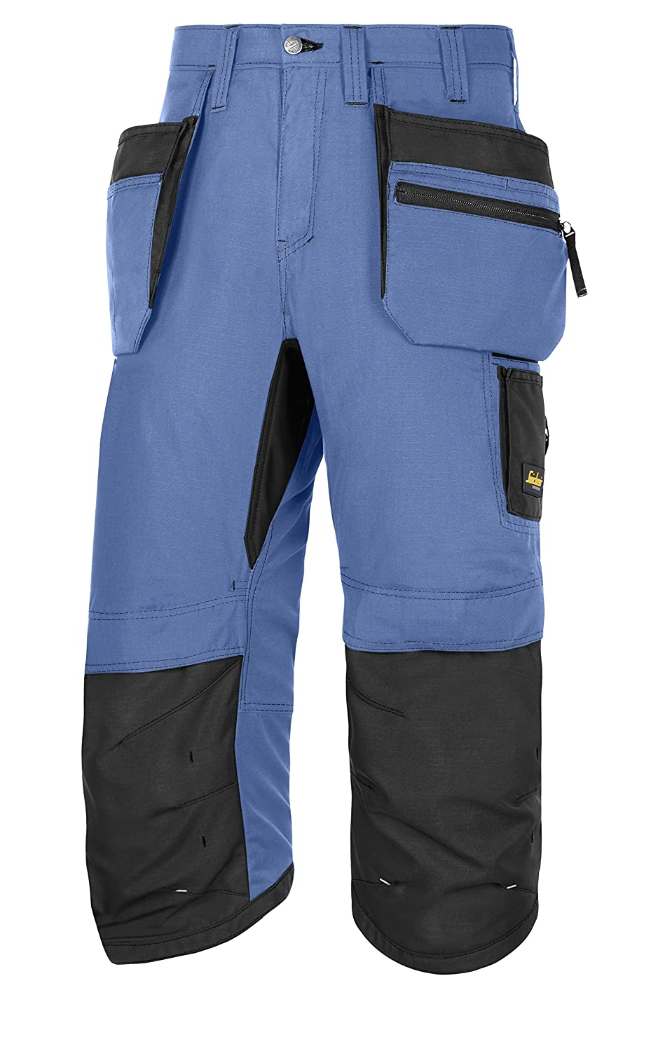 Snickers 61039504046 Size 46'LiteWork, 37.5' Work Pirate Trousers with Pockets - Navy Blue/Black 37.5 Work Pirate Trousers with Pockets - Navy Blue/Black