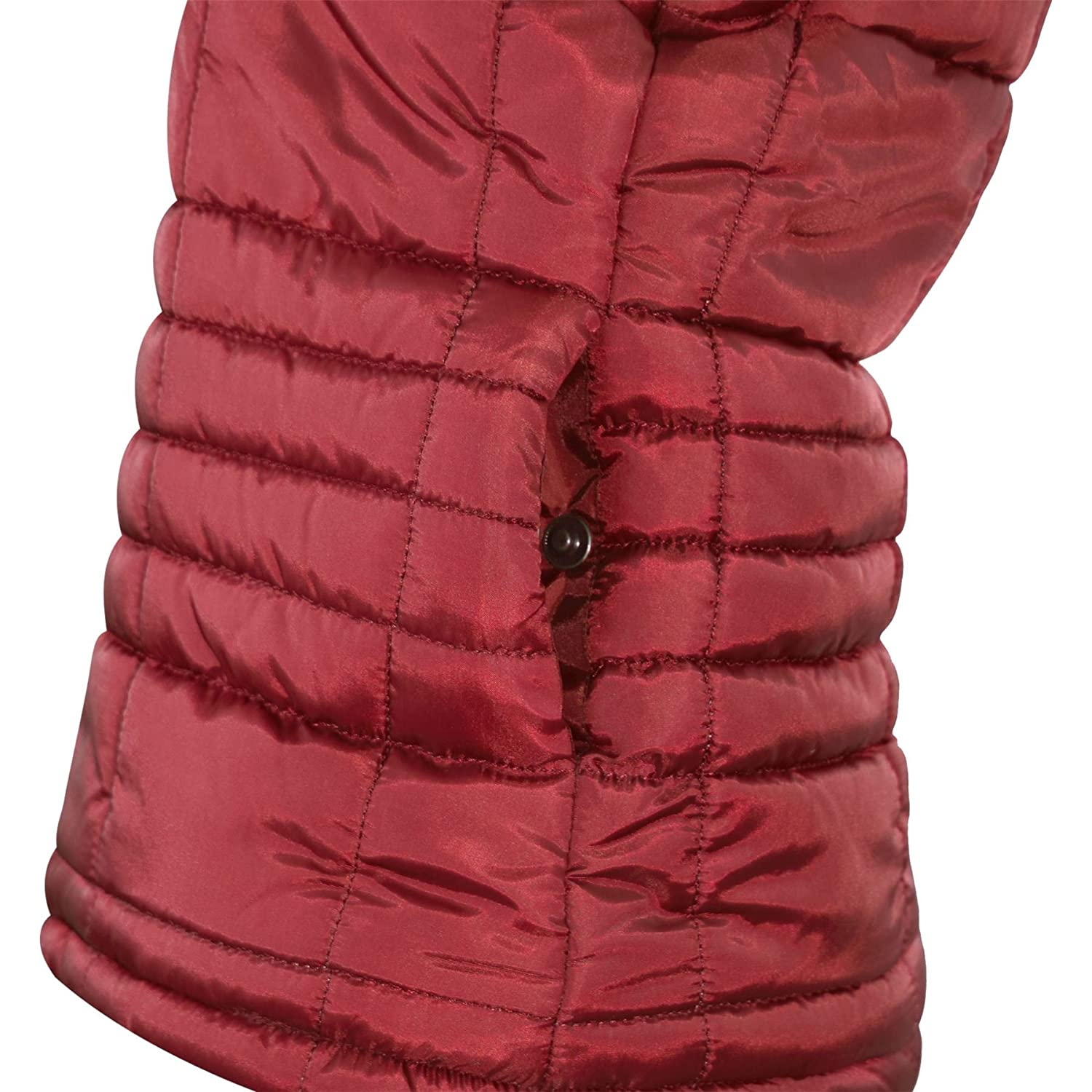 A2Z 4 Kids/® Kids Girls Boys Designers Wine Sleeveless Hooded Padded Quilted Lined Gilet Bodywarmer Fashion Jackets Age 5 6 7 8 9 10 11 12 13 Years