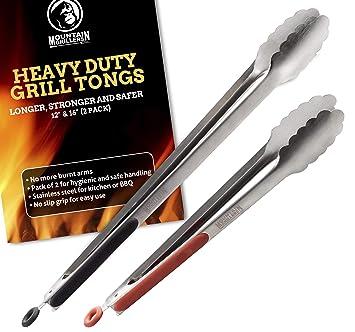Pinzas Largas para Barbacoa en Acero Inox (30 y 40 cm) - 2 Pinzas