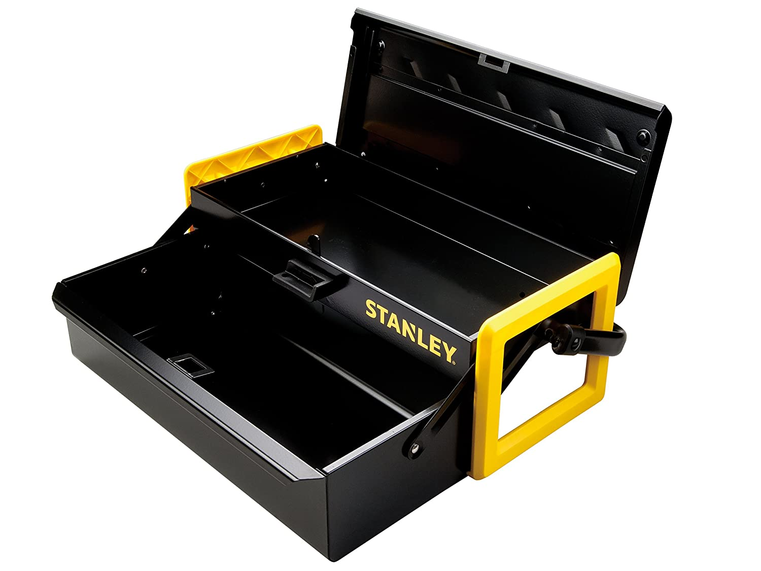 Stanley Tools Metal Cantilever Toolbox with Central Lock and Metal Handle | 16  - - Amazon.com  sc 1 st  Amazon.com & Stanley Tools Metal Cantilever Toolbox with Central Lock and Metal ...
