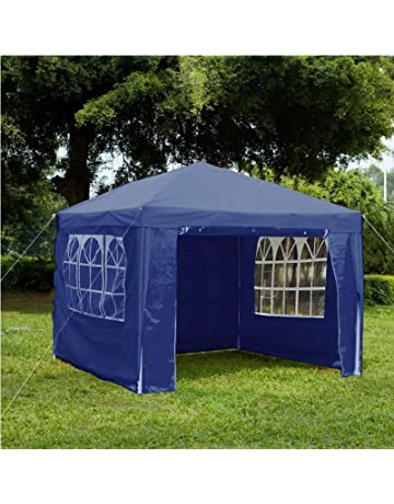 0a7898a345dc48 Gr8 Garden 70747-BLUE Gazebo with Sides Outdoor Waterproof Beach Party  Festival Camping Tent Canopy