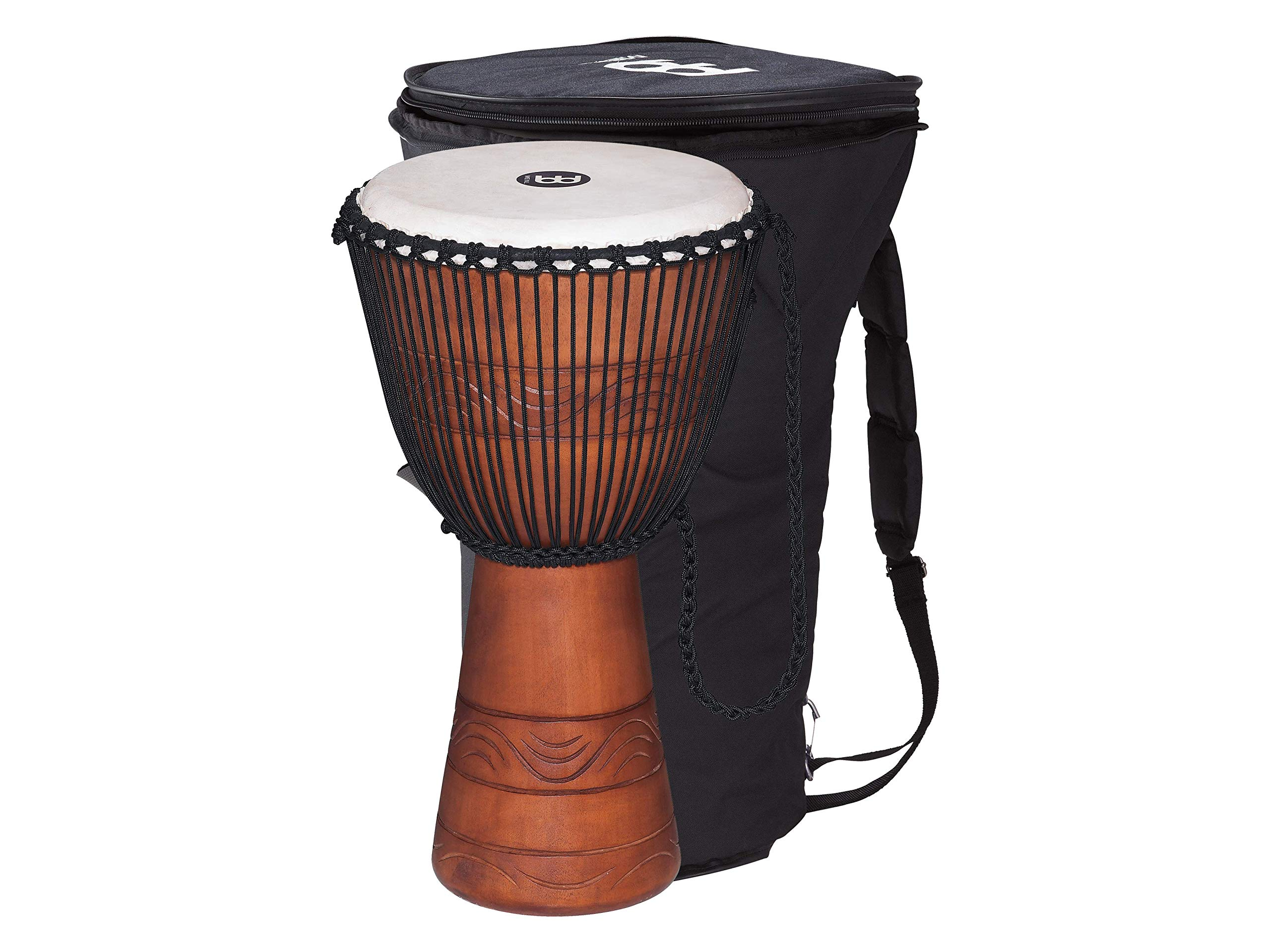 Meinl Percussion ADJ2-L+BAG African Style Rope Tuned 12-Inch Wood Djembe with Bag, Brown by Meinl Percussion (Image #3)