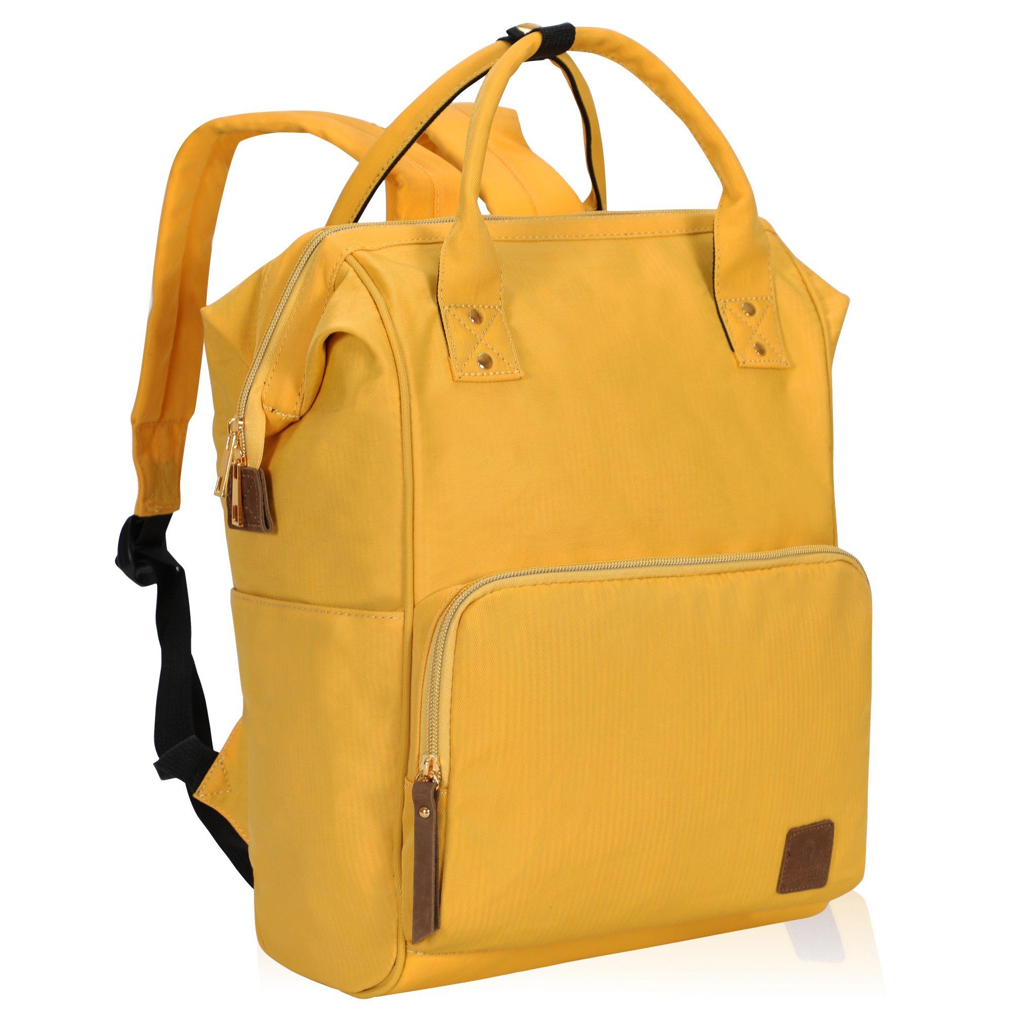 f813194972f1 Veegul Wide Open Multipurpose Travel Backpack Lightweight Casual Daypack  18L Calendula Yellow