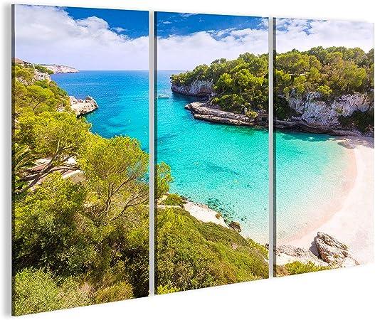 bilderfelix Cuadro Cuadros Mallorca Cala Llombards Santanyi Playa en Mallorca Baleares, España Tela de Lienzo fotografía HD FYX: Amazon.es: Hogar