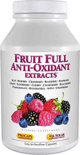 Andrew Lessman Fruit Full Anti-Oxidant Extracts 60 Capsules – 14 Natural Fruit and Berry Extracts. Bilberry, Cranberry, Grape Seed, Pomegranate, Resveratrol, and More. Easy to Swallow Capsules