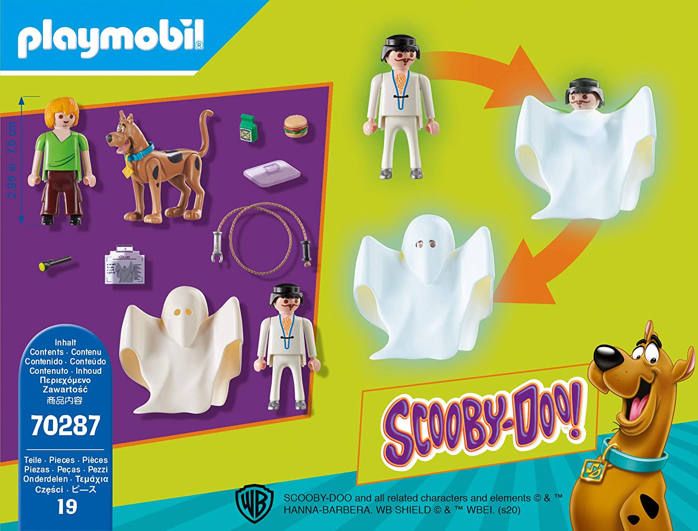 70287 Scooby /& Shaggy con Fantasma PLAYMOBIL-Scooby-Doo