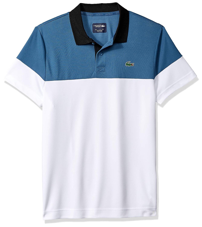 4504c6d9 Lacoste Men's Sport Short Sleeve Color Blocked Polo at Amazon Men's  Clothing store: