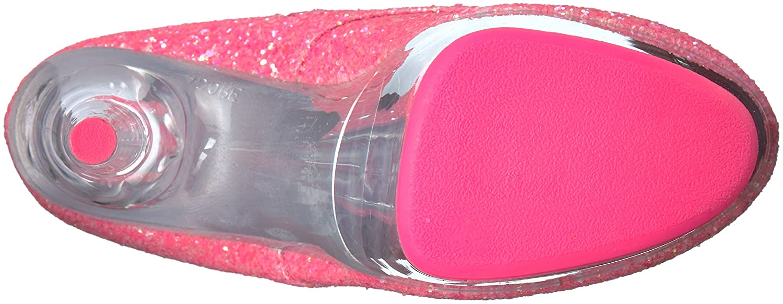 Pleaser Women's Adore-1020G Ankle Boot B01ABTAHYS 12 B(M) US|Neon Pink Glitter/Neon Pink Glitter