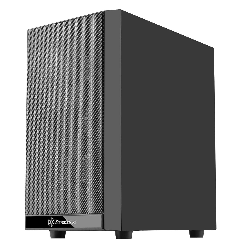 Silverstone SST-PS15B-G carcasa de ordenador Mini-Tower Negro - Caja de ordenador (Mini-Tower, PC, De plástico, Acero, Vidrio templado, Negro, Micro ...