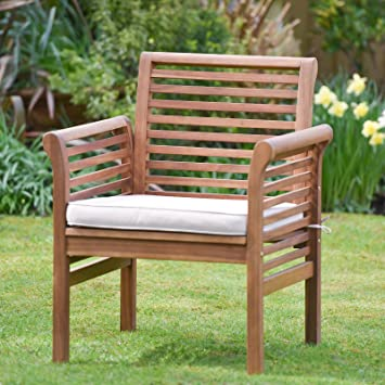 Awe Inspiring Plant Theatre Hardwood Garden Sofa Armchair With Cushion Included Home Interior And Landscaping Ologienasavecom