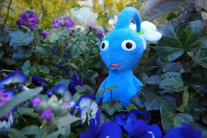 Japan Import Sanei Pikmin PK02 Blue Pikmin Plush Toy Height 17cm Peluche