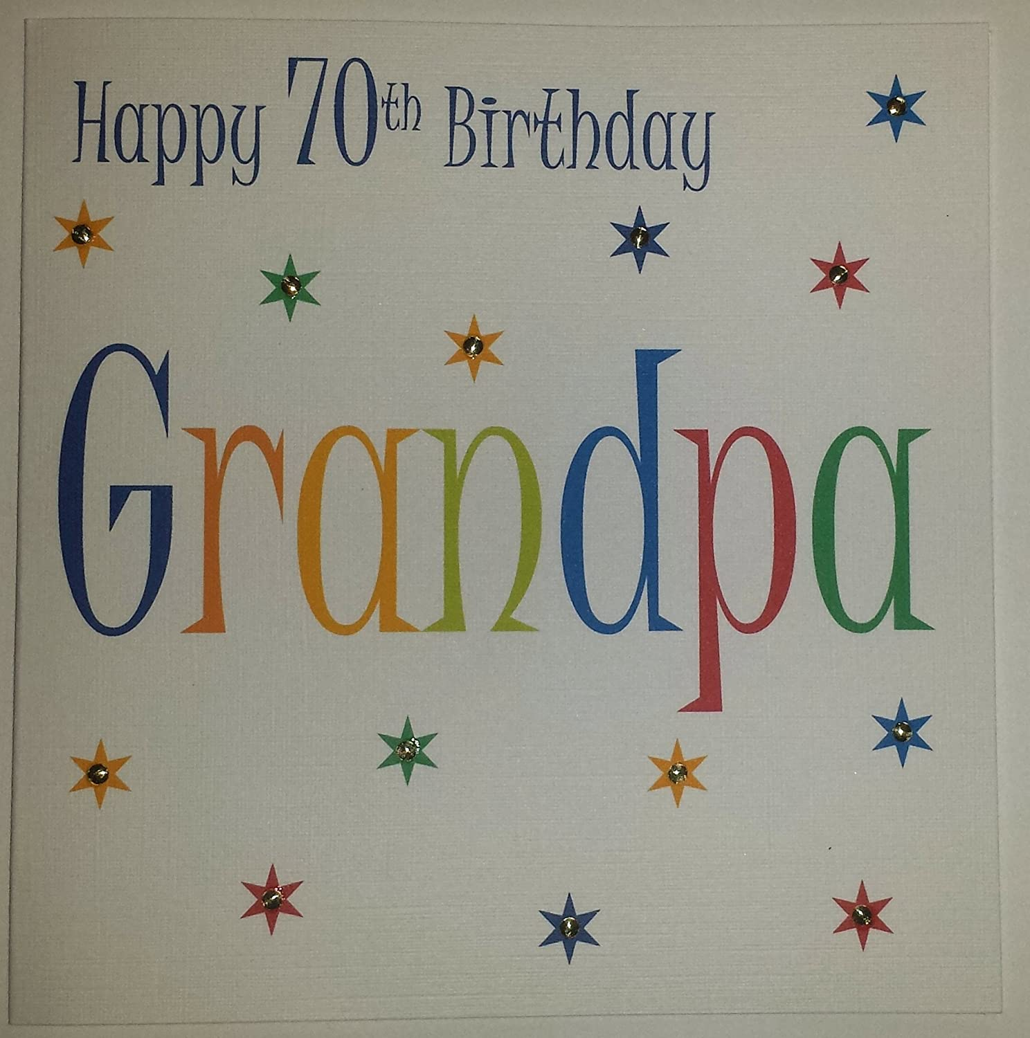 Happy birthday card grandpa 70th birthday handmade card happy birthday card grandpa 70th birthday handmade card amazon office products bookmarktalkfo Image collections