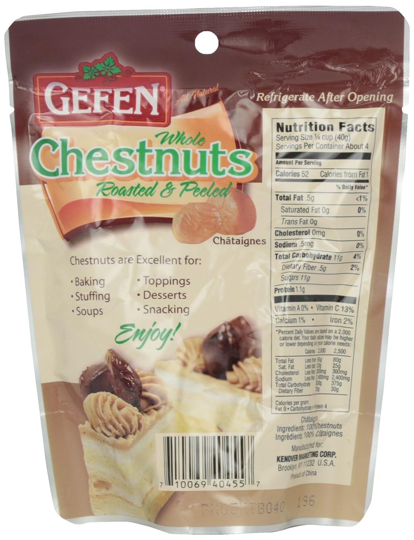 Amazon.com : Gefen Whole Chestnuts, Roasted & Peeled, 5.2 oz ...