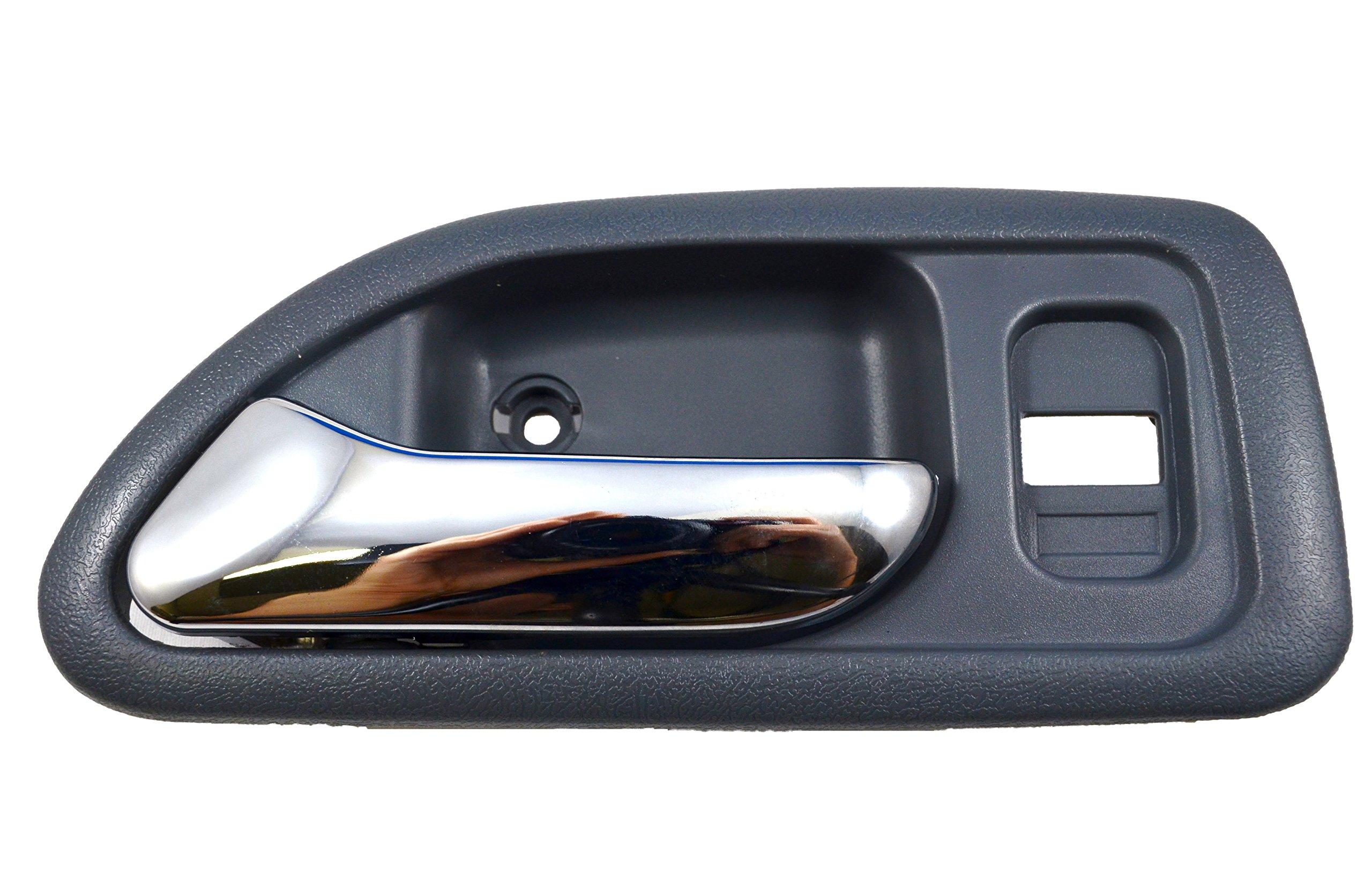 PT Auto Warehouse HO-2579MH-FL - Inside Interior Inner Door Handle, Light Gray Housing with Chrome Lever - 4-Door Sedan, Driver Side Front