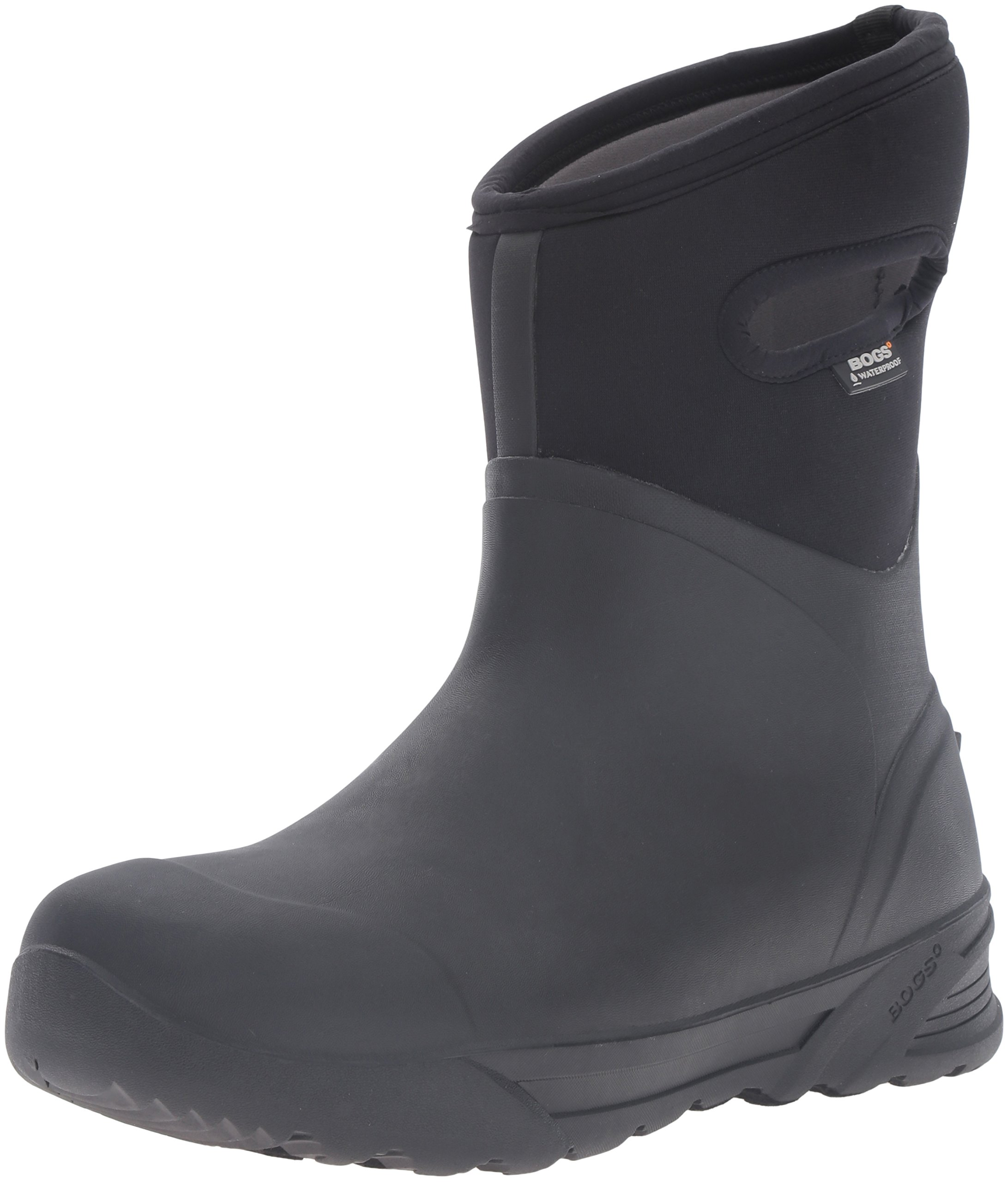 Bogs Men's Bozeman Mid Waterproof Insulated Rain Boot, Black, 11 D(M) US by BOGS