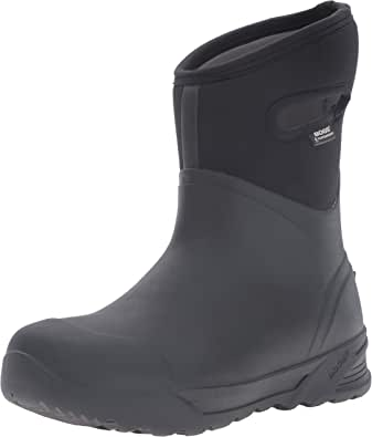 Bogs Men's Bozeman Mid Waterproof Warm Insulated Winter Work Snow and Rain Boot