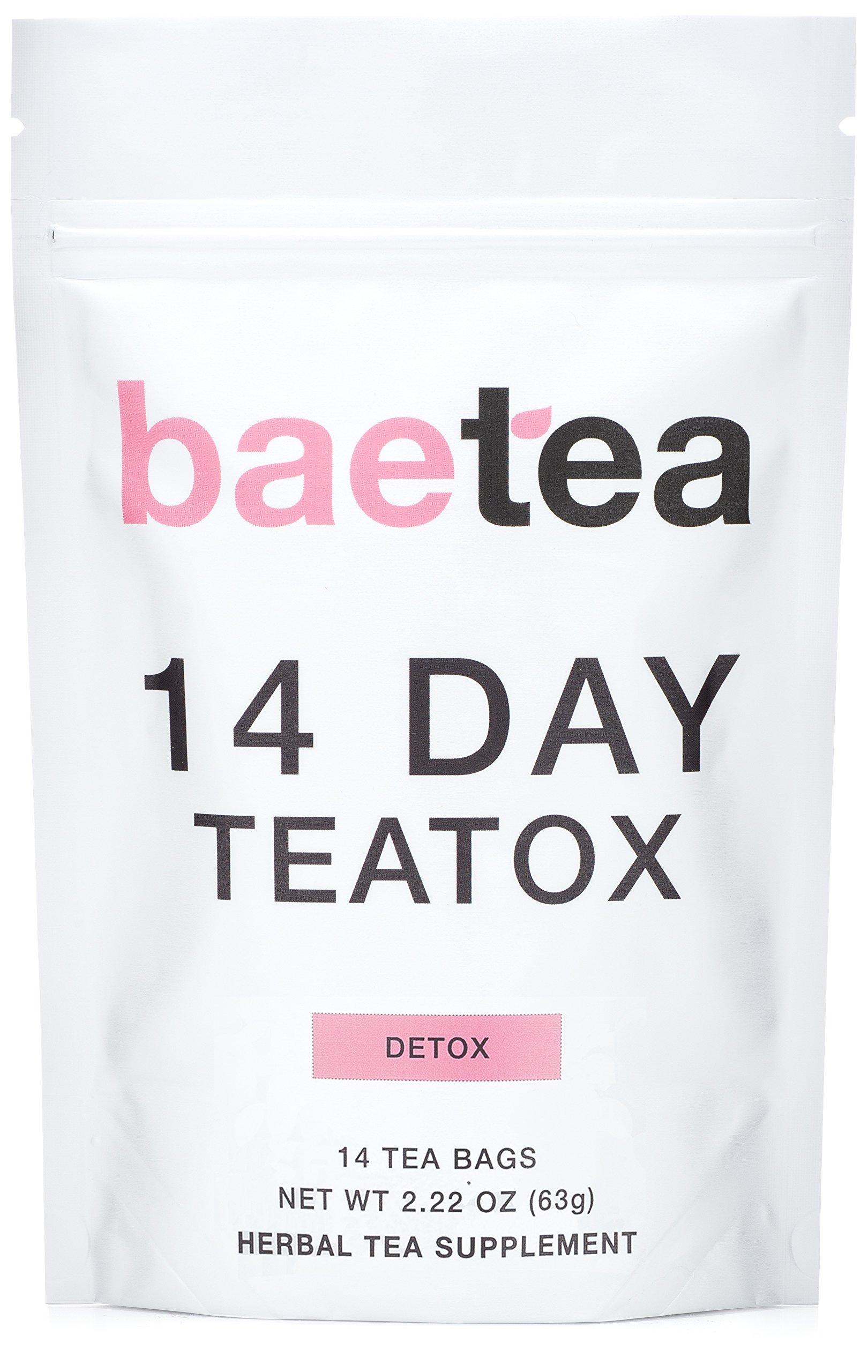 Baetea 14 Day Teatox Detox Herbal Tea Supplement (14 Tea Bags)