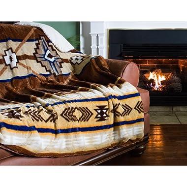 Cozy Fleece SW Neutral Throw, 60 x 80