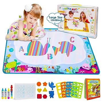 BBLIKE Agua Dibujo Pintura, 73 * 49 cm Agua Doodle esteras mágicas, Libro Mágico del Dibujo del Agua Libro 4 bolígrafos para niño ,Ideal Navidad ...