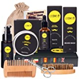 Ceenwes 10 in1 Beard Grooming Kit for Men Care with Beard Oil, Beard Brush, Beard Comb, Beard Balm, Beard Shampoo, Beard Scissors & Shaping Tool Beard Growth Kit Perfect Gifts for Dad/Boyfriend