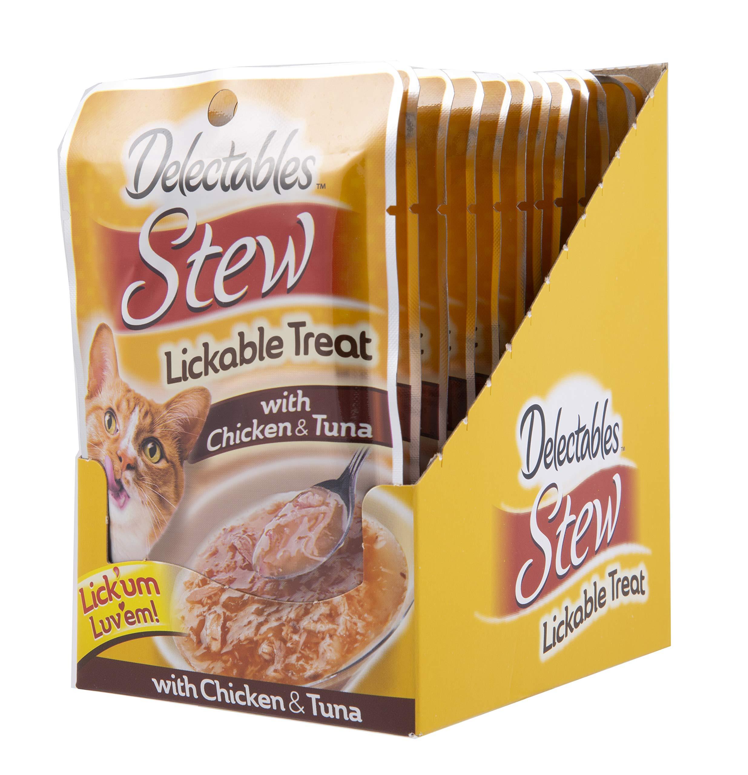 Delectables Stew Chicken & Tuna Lickable Cat Treat, 1.4-oz, case of 12