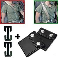 WEILYDF Sicherheitsgurt Teller Comfort Universal Auto Schultergurt Positionierer Pu Leder Autositz G/ürtelclips