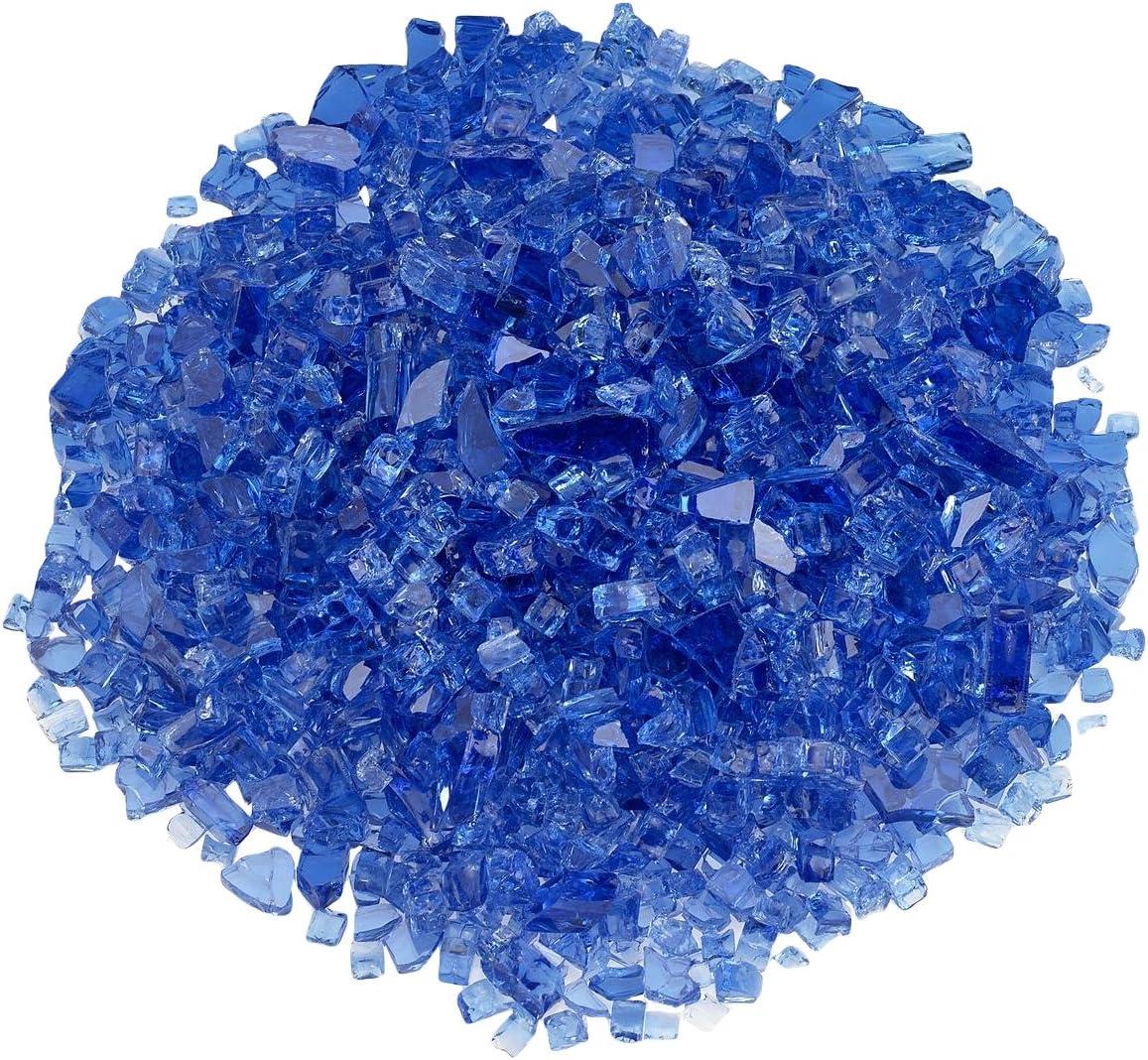 American Fireglass 1 4 Cobalt Blue Fire Glass, 20 lb. Bag