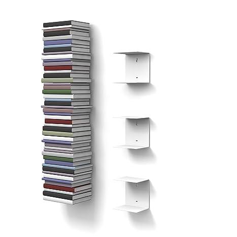 Mensole Per Libri.Home3000 3 Mensole Libreria Invisibili Colore Bianco Con 6 Scomparti Altezza Fino A 150 Cm Per Mettere I Libri In Pila Per Libri Con