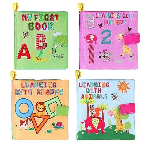 Toymytoy Livres De Jouets De Bebe Livre D Eveil Enfant Le Livre Des Decouvertes 4 Pieces